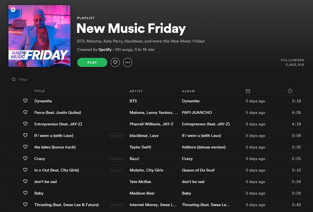 New Music Friday Spotify - Promoting your music